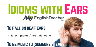 idioms with ears