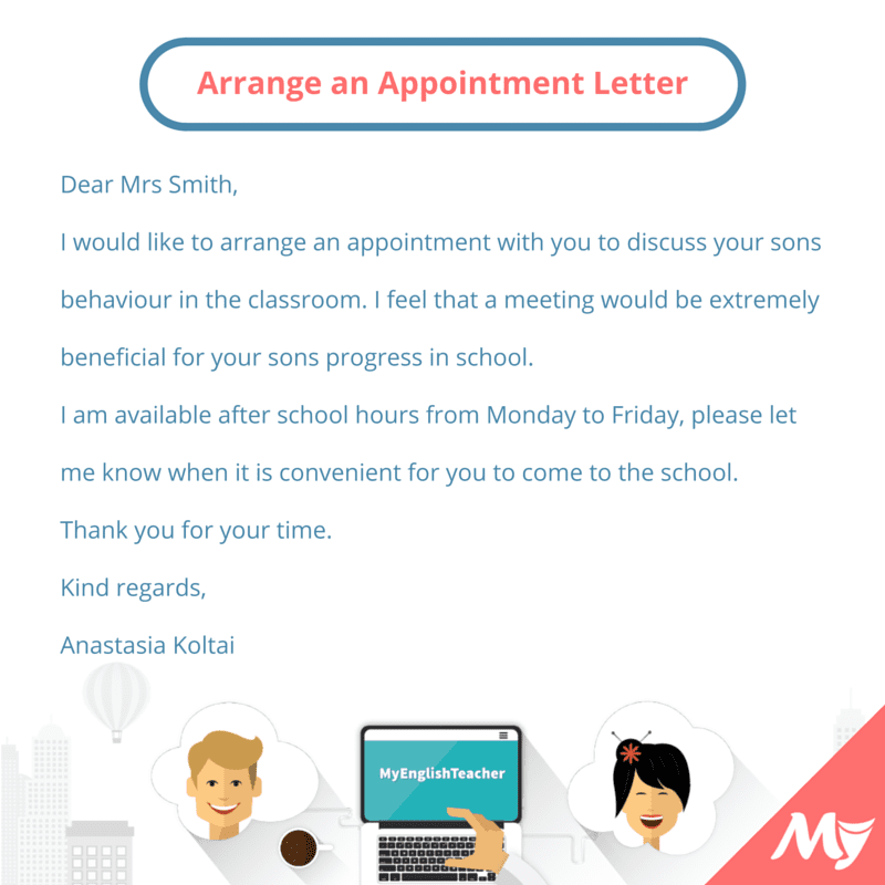 make appointment email sample