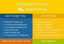 other ways to say nice to meet you