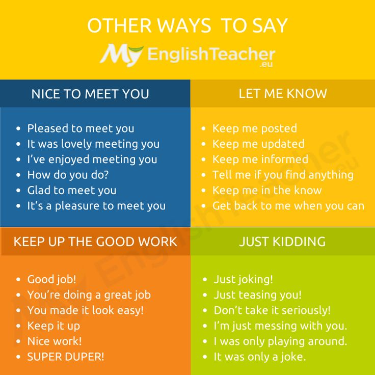 Other Ways to say Nice to Meet You 🤗🤩😍 - MyEnglishTeacher