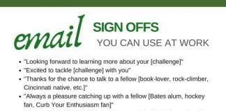 email sign offs