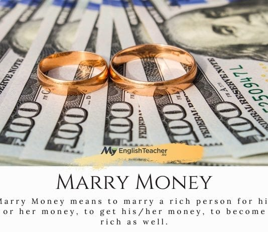 marry money meaning