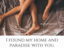 I found my home and paradise with you
