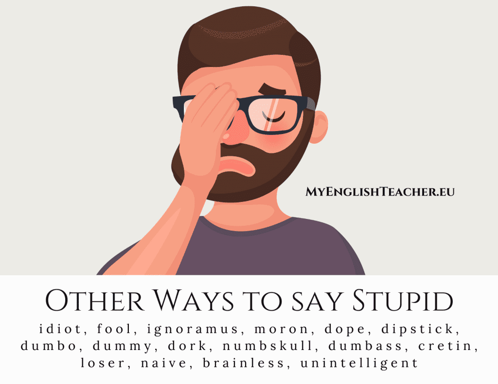 Other Ways to say Stupid