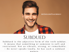 Subdued meaning