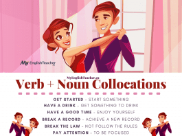 Verb Noun Collocations: get started, have a good time, make a difference, save money