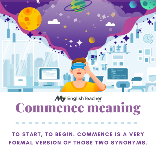 Commence meaning