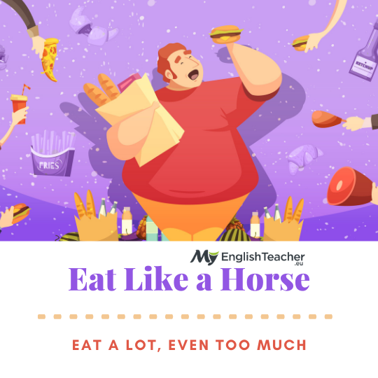 Eat Like a Horse meaning