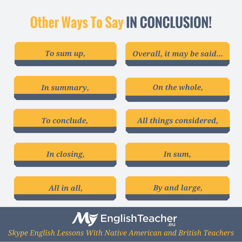 ways to conclude and essay