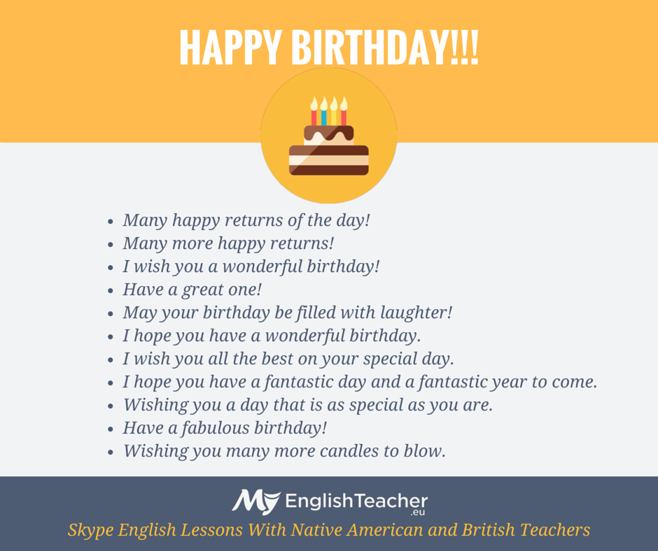 Other ways to say happy birthday myenglishteacher blog other ways to say happy birthday m4hsunfo