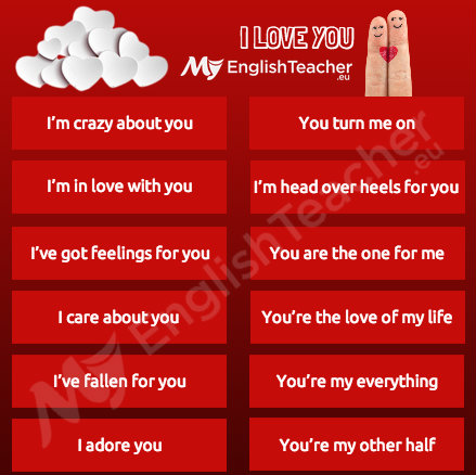 Different ways to say i love u
