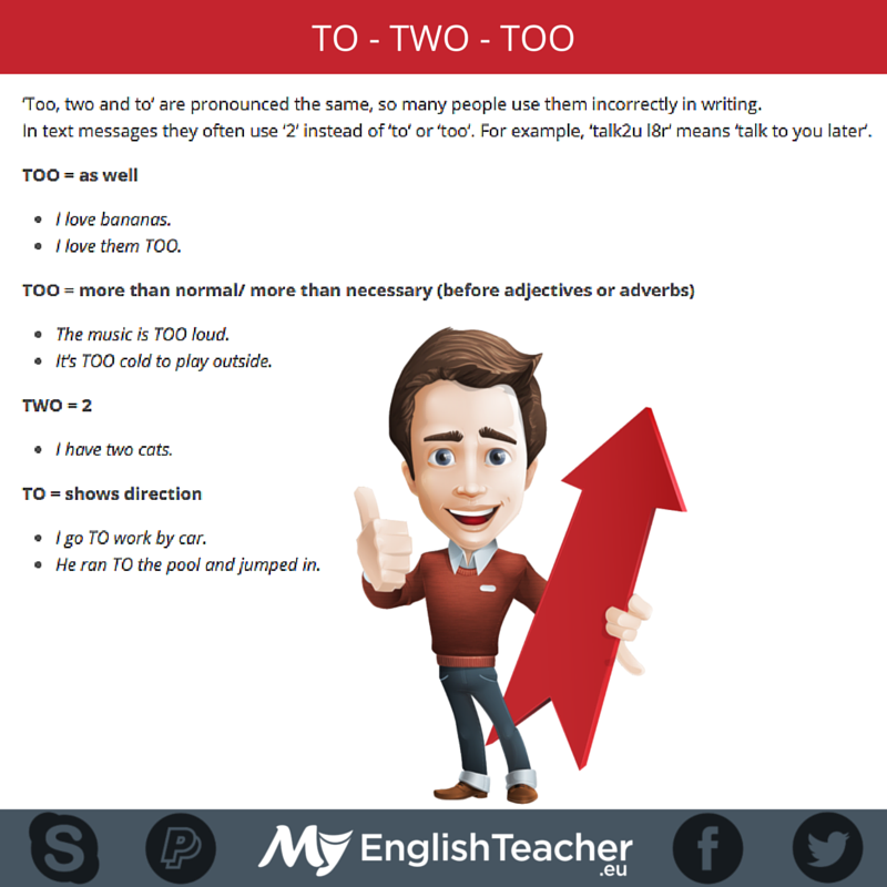 difference between to too and two