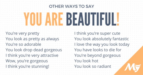 different ways to say you are beautiful