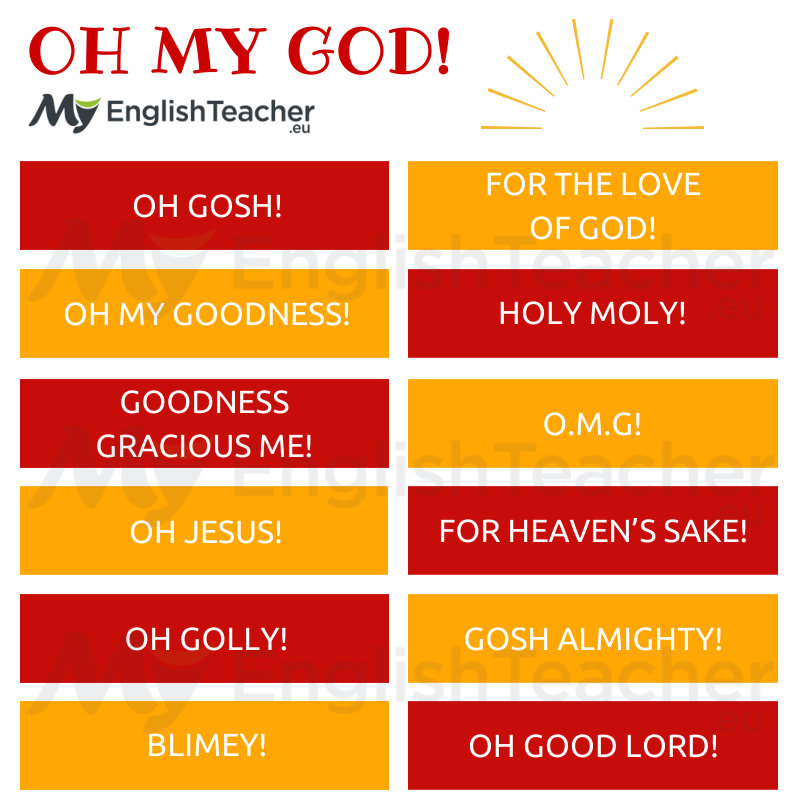 other ways to say oh my god