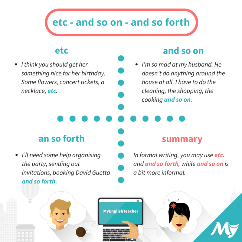 """etc"", ""and so on"", ""and so forth"" meanings ..."