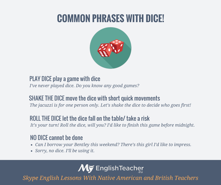 COMMON PHRASES WITH DICE!