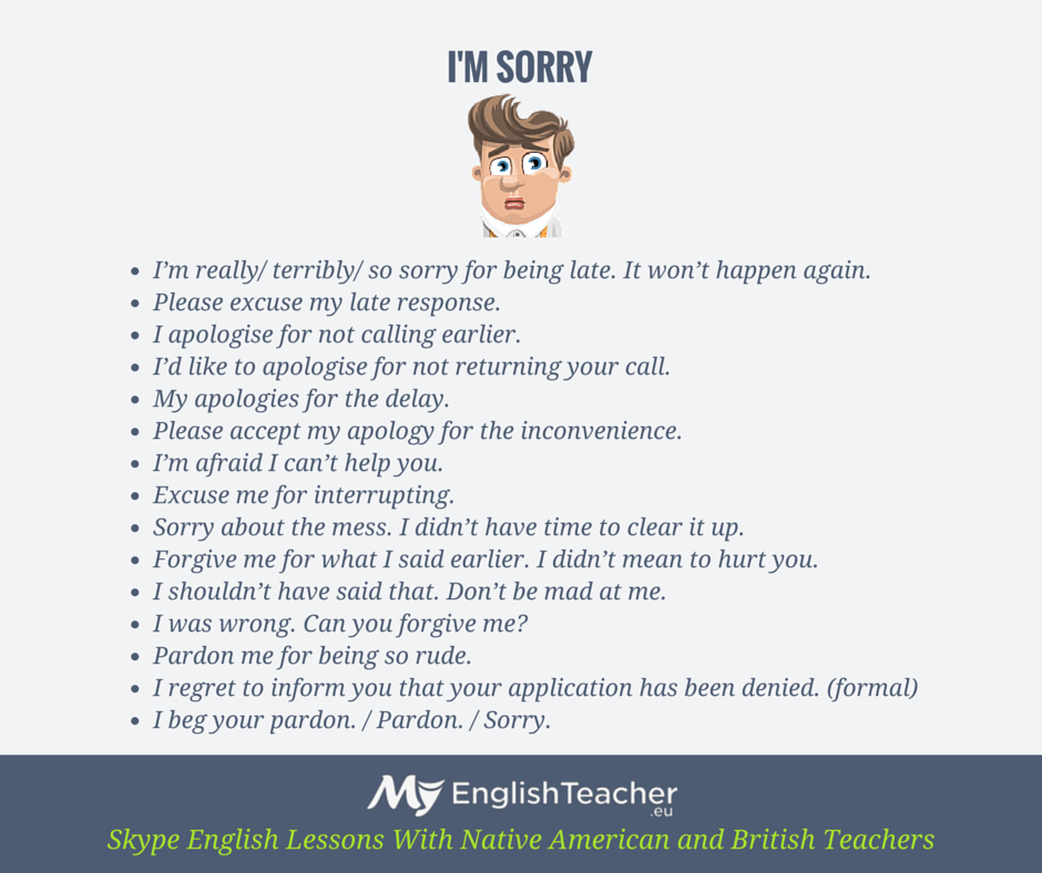 other ways to say sorry