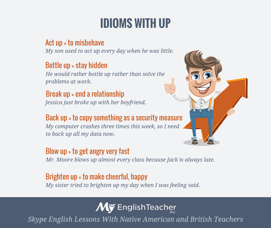 List Of Idioms With Up And Down Myenglishteacher