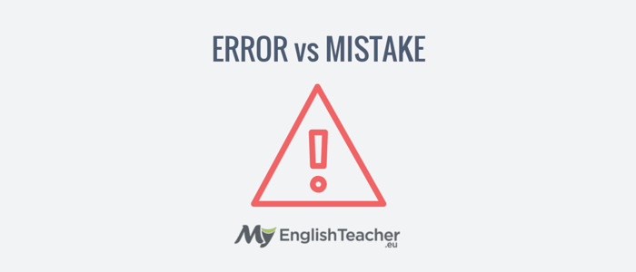 Difference Between MISTAKE and...