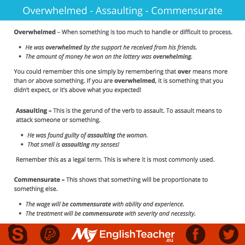 Overwhelmed - Assaulting - Commensurate
