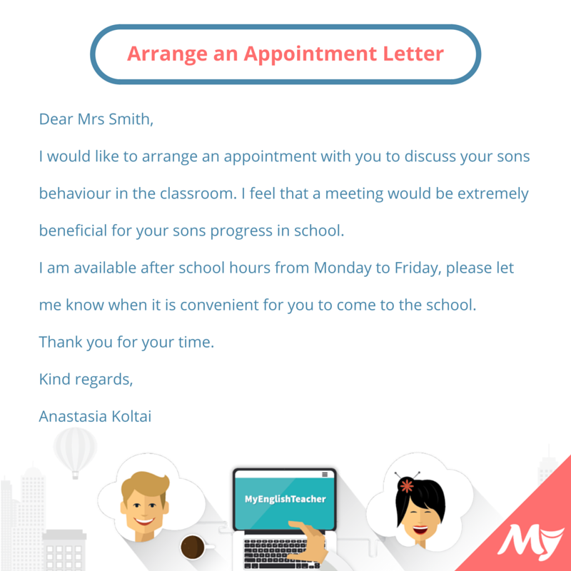 What should i write to arrange an appointment with someone what should i write to arrange an appointment with someone myenglishteacher forum myenglishteacher forum altavistaventures Images