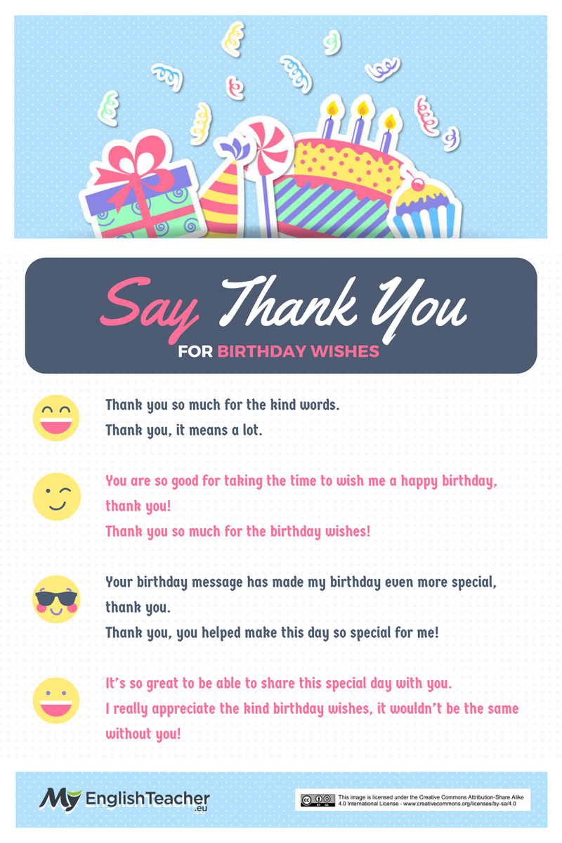 Different ways to say thank you for birthday wishes ways to say thank you for birthday wishes kristyandbryce Gallery