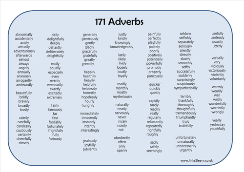 The 5 Basic Types Of Adverb And Examples Myenglishteacher Blog
